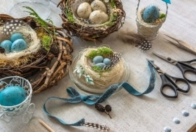 Decorațiuni de Paște făcute manual acasă, pentru a te relaxa și pentru a petrece timp alături de copii