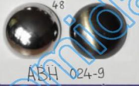 Nasturi Metalizati, cu Picior, din Plastic 25mm (100 bucati/pachet) Cod: 3166  Nasturi Plastic Metalizati ABH024-9, Marimea 48 (144 buc/pachet)