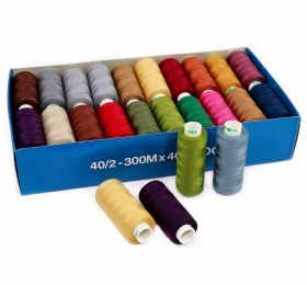Ata de Cusut 40/2, 300m, Alba (40 papiote/cutie)DorTak Sewing Thread 40/2, 300 m, Dark-Assorted (40 spools/box)DorTak