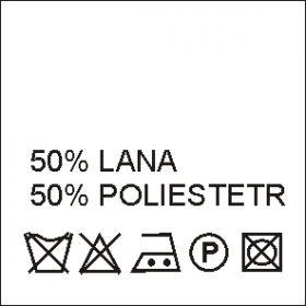 Etichete Compozitie  Made in Romania (1000 bucati/pachet) Etichete Compozitie 50% LANA si 50% POLIESTER ( 1000bucati/pachet)