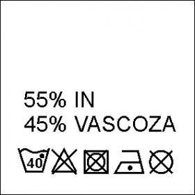 Etichete Compozitie 95% VASCOZA si 5% ELASTAN (1000 bucati/pachet) Etichete Compozitie 55% IN si 45% VASCOZA (1000 bucati/pachet)