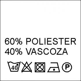 Etichete Compozitie 67% POLIESTER si 33% BUMBAC (1000 bucati/pachet) Etichete Compozitie 60% POLIESTER si 40% VASCOZA (1000 bucati/pachet)