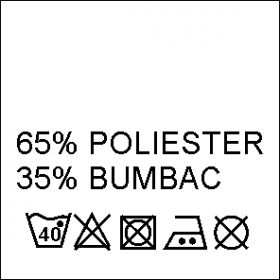 Etichete Compozitie 55% BUMBAC si 45% POLIESTER (1000 bucati/pachet) Etichete Compozitie 65% POLIESTER si 35% BUMBAC (1000 bucati/pachet)