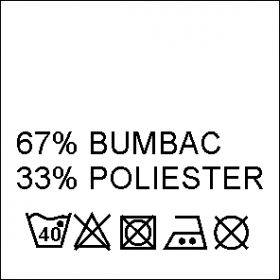 Etichete Compozitie 55% BUMBAC si 45% POLIESTER (1000 bucati/pachet) Etichete Compozitie 67% BUMBAC si 33% POLIESTER (1000 bucati/pachet)