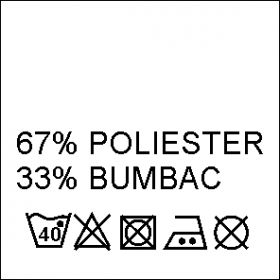 Etichete Compozitie 65% POLIESTER si 35% BUMBAC (1000 bucati/pachet) Composition Labels 67% Polyester and 33% Cotton (1000 pcs/pack)