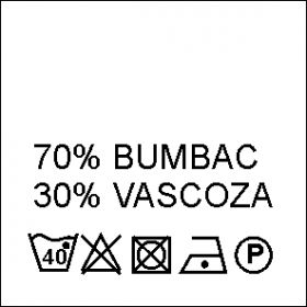 Etichete Compozitie  100% VASCOZA (1000 bucati/pachet) Etichete Compozitie 70% BUMBAC si 30% VASCOZA (1000 bucati/pachet)