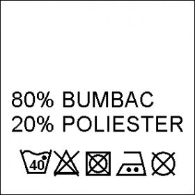 Etichete Compozitie  100% VASCOZA (1000 bucati/pachet) Etichete Compozitie 80% BUMBAC si 20% POLIESTER (1000 bucati/pachet)