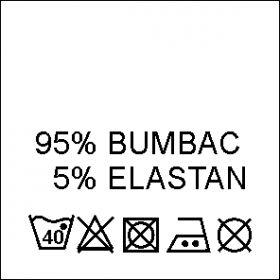 Etichete (imprimate, tesute, carton, cauciuc, adezive) Etichete Compozitie 95% BUMBAC si 5% ELASTAN (1000 bucati/pachet)