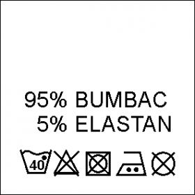 Etichete Compozitie 95% VASCOZA si 5% ELASTAN (1000 bucati/pachet) Etichete Compozitie 95% BUMBAC si 5% ELASTAN (1000 bucati/pachet)