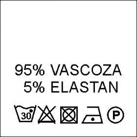 Etichete Compozitie  100% VASCOZA (1000 bucati/pachet) Etichete Compozitie 95% VASCOZA si 5% ELASTAN (1000 bucati/pachet)