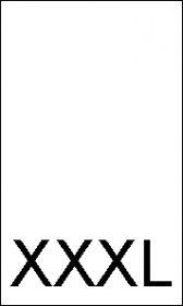 Etichete Marimi - Marimea M (1000 bucati/pachet) Etichete Marimi - Marimea XXXL (1000 bucati/pachet)