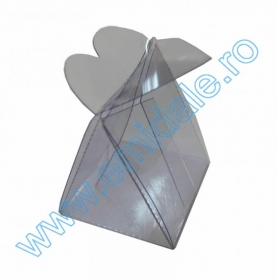 Saculet Organza MARE (12 bucati/set) DIFERITE CULORI Cutie PVC 4.5 x 4.0 cm (12 bucati /set)