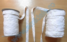 Capse de Cusut Banda cu Capse din Plastic, 18 mm, Alb, Negru (50 metri/rola)