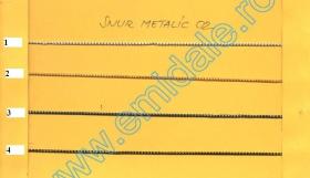 Lant Ornamental (10 m/rola)  Culoare: Gun Silver Snur MET-02 (131.674 m/rola)