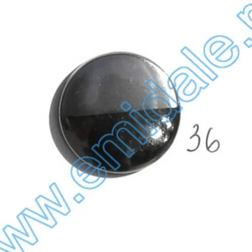 Nasturi Metalizati, cu Picior, din Plastic  25mm (100 bucati/pachet) Cod: 2123 Nasturi A363-BNN, Marimea 36 (100 buc/pachet)