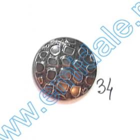 Nasture Plastic Metalizat JU049, Marime 34, Auriu (100 buc/punga)  Nasturi A363-SA, Marimea 34 (100 buc/pachet)