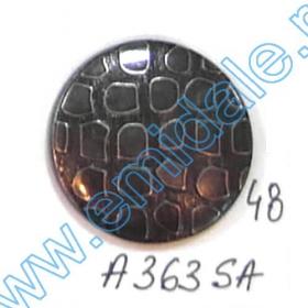 Nasturi Metalizati, cu Picior, din Plastic  25mm (100 bucati/pachet) Cod: 2123 Nasturi A363-SA, Marimea 48 (100 buc/pachet)