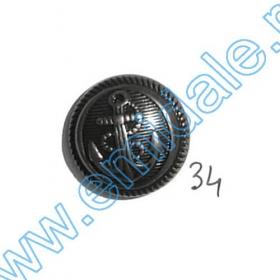 Nasturi Metalizati, cu Picior, din Plastic, marime 44 (100 bucati/pachet) Cod: S1 Nasturi A539, Marimea 34 (100 buc/pachet)