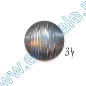 Nasturi Metalizati, cu Doua Gauri, din Plastic (100 bucati/pachet) Cod: 2620  Nasturi A628, Marimea 34 (100 buc/pachet)
