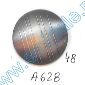 Nasturi Metalizati, cu 4 Gauri, din Plastic, marime 44 (100 bucati/pachet) Cod: S238 Nasturi A628, Marimea 48 (100 buc/pachet)