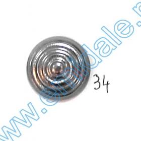 Nasturi Metalizati, cu Doua Gauri, din Plastic (100 bucati/pachet) Cod: 2620  Nasturi A646, Marimea 34 (100 buc/pachet)