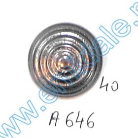 Nasturi Metalizati cu Picior S417/40 (50 buc/pachet) Nasturi A646, Marimea 40 (100 buc/pachet)