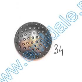 Nasturi Metalizati, cu Picior, din Plastic, marime 36 (100 bucati/pachet) Cod: S1 Nasturi A796, Marime 34 (100 buc/pachet)