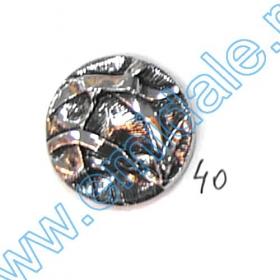 Nasturi Metalizati, cu 4 Gauri, din Plastic, marime 44 (100 bucati/pachet) Cod: S238 Nasturi A832, Marime 40, Argintii (100 buc/pachet)
