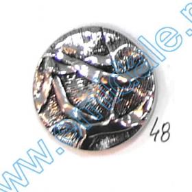 Nasturi Metalizati, cu Picior, din Plastic, marime 24 (144 bucati/pachet) Cod: B6305 Nasturi A832, Marime 48, Argintii (100 buc/pachet)