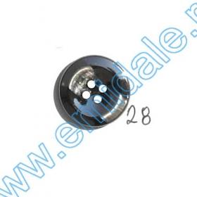 Nasturi Metalizati, cu Picior, din Plastic  21mm (100 bucati/pachet) Cod: 3148 Nasturi A2003, Marime 28 (100 buc/pachet)