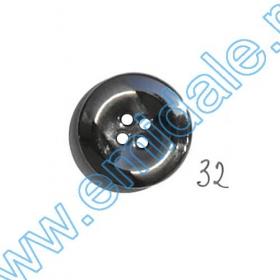 Nasturi Metalizati, cu Picior, din Plastic 21mm (100 bucati/pachet) Cod: 3166  Nasturi A2003, Marime 32 (100 buc/pachet)