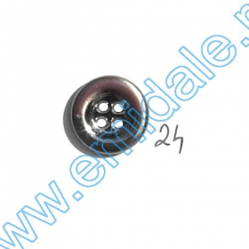 Nasturi Metalizati, cu Picior, din Plastic 21mm (100 bucati/pachet) Cod: 3166  Nasturi A2012, Marime 24 (100 buc/pachet)