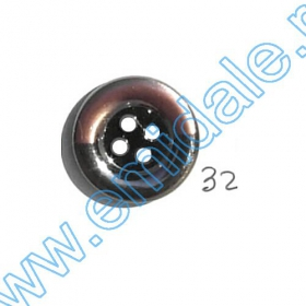 Nasturi Metalizati, cu Picior, din Plastic  25mm (100 bucati/pachet) Cod: 2123 Nasturi A2012, Marime 32 (100 buc/pachet)
