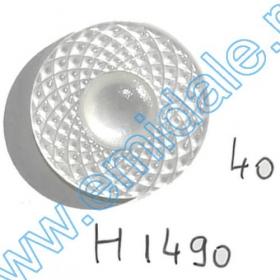 Nasturi Plastic  H275/48 (100 bucati/pachet) Culoare: Alb Nasturi H1490/40 (100 bucati/pachet)