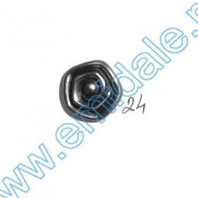 Nasture Plastic Metalizat JU049, Marime 28, Antic Brass (100 buc/punga)  Nasturi W245, Marime 24, Argintii (100 buc/pachet)