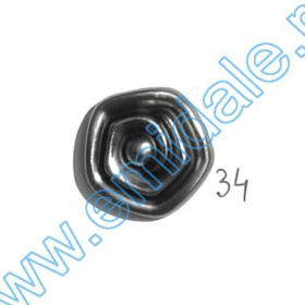 Nasture Plastic Metalizat JU895/32 (100 buc/punga) Nasturi W245, Marime 34, Argintii (100 buc/pachet)