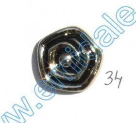 Nasturi Plastic Metalizati JU870, Marime 40, Antic Brass (100 buc/pachet)  Nasturi W245, Marime 34, Aurii (100 buc/pachet)