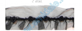 Dantela 0575-3077 (13,72 m/rola) Dantela C15112 (36 yards/rola) Neagra