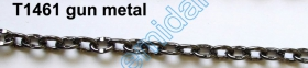 Lant Ornamental (10 m/rola) Culoare: Auriu  Metal Chain 10 mm (20 m/roll) Color: Gun Metal