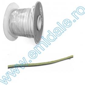 Snur Poliester 5mm (100 m/rola) Snur Imitatie Piele, 4 mm, Kaki, Bleumarin (45 m/rola)