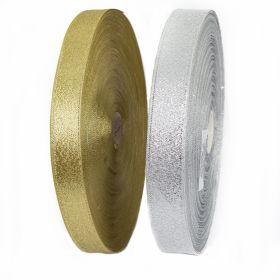 Pasmanterie, latime 45 mm (12.75 m/rola)Cod: WTP-115 Pasmanterie 2504-30 Argintiu, Auriu (100 metri/rola)