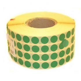 Marcatoare pret, role adezive, tusiere Buline Autoadezive 10x10 (13480 buline/rola) Verde