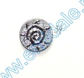 Nasturi Plastic Metalizati AB3457, Marimea 32 (144 buc/pachet) Metalized PLastic Buttons JU882, Size 34, Silver (100 pcs/pack)