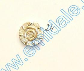 Nasturi Metalizati, cu Picior, din Plastic  21mm (100 bucati/pachet) Cod: 3148 Nasturi Plastic Metalizati JU882, Marime 24, Aurii (100 buc/pachet)