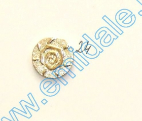 Nasturi W245, Marime 34, Aurii (100 buc/pachet)  Nasturi Plastic Metalizati JU882, Marime 24, Aurii (100 buc/pachet)
