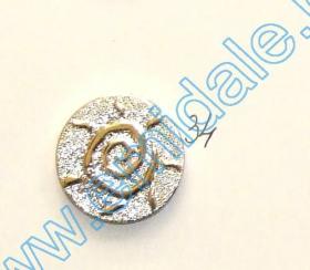 Nasturi cu Doua Gauri 11HB-H618, Marimea 40, Argintiu Inchis (100 buc/pachet) Nasturi Plastic Metalizati JU882, Marime 34, Aurii (100 buc/pachet)