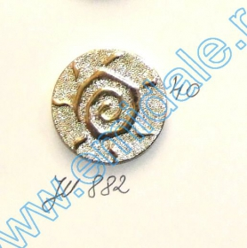 Nasture Plastic Metalizat JU895/32 (100 buc/punga) Nasturi Plastic Metalizati JU882, Marime 40, Aurii (100 buc/pachet)