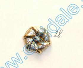 Nasturi cu Picior PL020, Marime 34, Aurii (144 buc/pachet) Nasture Plastic Metalizat JU762, Marime 28 (100 buc/pachet)