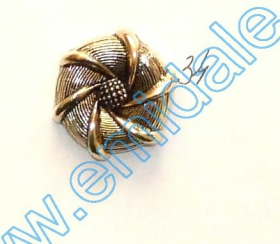 Nasturi Plastic Metalizati AB3457, Marimea 32 (144 buc/pachet) Metalized Plastic Buttons JU762, Size 34 (100 pcs/pack)