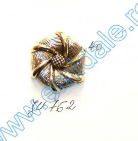 Nasturi Metalizati, cu Picior, din Plastic, marime 40 (144 bucati/pachet) Cod: B6307 Nasture Plastic Metalizat JU762, Marime 40 (100 buc/pachet)